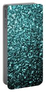 Beautiful Aqua Blue Glitter Sparkles Portable Battery Charger