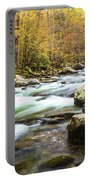 Beautiful Autumn Colors Little Pigeon River Smoky Mountains Portable Battery Charger