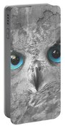 Beautiful Blue-eyed Owl Portable Battery Charger