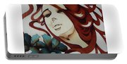 Beautiful Blue Eyes Woman Portable Battery Charger