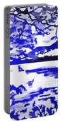 Beautiful Blue Pop Art Scene Portable Battery Charger