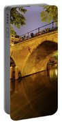 Beautiful Bridge Weesbrug Over The Old Canal In Utrecht At Dusk 220 Portable Battery Charger