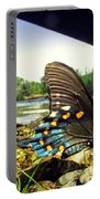Beautiful Butterfly At The River II Portable Battery Charger
