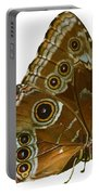 Beautiful Butterfly Wings Of Meadow Brown Isolated Portable Battery Charger
