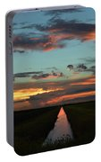 Beautiful Canal Sunset In Florida Portable Battery Charger