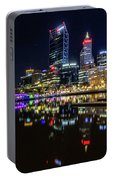 Beautiful Cityscape At Perth's Elizabeth Quay  Portable Battery Charger