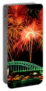 Beautiful Colorful Holiday Fireworks 2 Portable Battery Charger