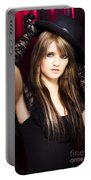Beautiful Costumed Young Showgirl Portable Battery Charger