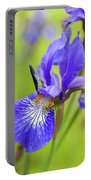 Beautiful Flower Iris Portable Battery Charger