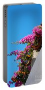 Beautiful Flowering Vine On Patmos Island Greece Portable Battery Charger