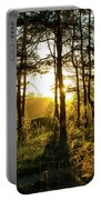Beautiful Forest At Sunrise Portable Battery Charger