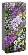 Beautiful Foxglove Portable Battery Charger