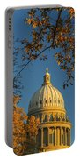 Beautiful Idaho State Capitol In Autumn Morning Portable Battery Charger