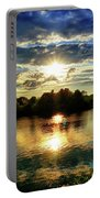 Beautiful Light Of The Golden Hour Portable Battery Charger