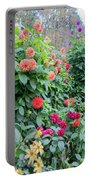 Beautiful Lot Of Dahlias,butchart Gardens,victoria,canada Portable Battery Charger