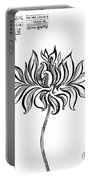 Beautiful Lotus... Black-white Mood Portable Battery Charger
