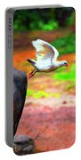 Beautiful Moment With A Bird Take Off , Wall Frame, Art Portable Battery Charger