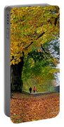 Beautiful Morning Walk In Autumn Portable Battery Charger