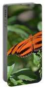Beautiful Orange Oak Tiger Butterfly In Nature Portable Battery Charger