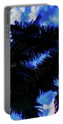 Beautiful Palm In Blue Sky Portable Battery Charger