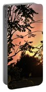 Beautiful Park Sunset View Trees Portable Battery Charger