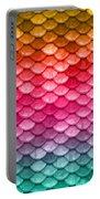 Beautiful Pastel Diagonal Rainbow Spectrum II Mermaid Fish Scales Portable Battery Charger