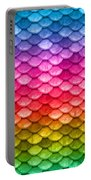 Beautiful Pastel Horizontal Rainbow Mermaid Fish Scales Portable Battery Charger