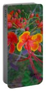 Beautiful Peacock Flower 5 Portable Battery Charger
