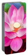 Beautiful Pink Lilies Portable Battery Charger
