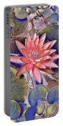 Beautiful Pink Lotus Abstract Portable Battery Charger