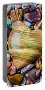 Beautiful Polished Colorful Stones Portable Battery Charger