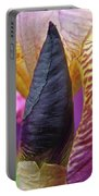 Beautiful Purple Iris Flowwer Floral Art Print Baslee Troutman Portable Battery Charger