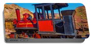 Beautiful Red Calico Train Portable Battery Charger