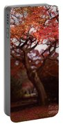 Beautiful Red Japanese Maple Tree In A Garden Portable Battery Charger