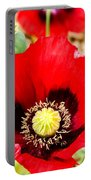 Beautiful Red Poppy Portable Battery Charger
