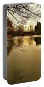 Beautiful Reflection In The Evening Hours Portable Battery Charger