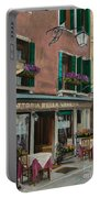 Beautiful Restaurant In Venice Portable Battery Charger by Charlotte Blanchard