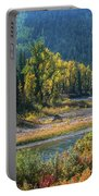 Beautiful River Bottom In Vivid Autumn Colors Portable Battery Charger