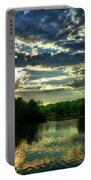 Beautiful Scene Before Sunset Portable Battery Charger