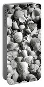 Beautiful Seashells Black And White Portable Battery Charger