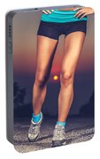 Beautiful Sportive Womens Legs Portable Battery Charger