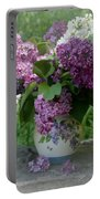 Beautiful Spring Flowers In A Vase Portable Battery Charger