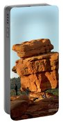 Beautiful Springtime Light On Balanced Rock Portable Battery Charger