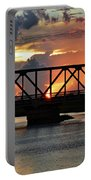 Beautiful Sunset Bridge  Portable Battery Charger