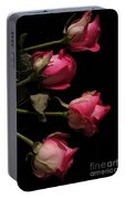 Beautiful Two Tone Roses 4 Portable Battery Charger