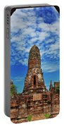 Beautiful Wat Phra Ram Temple In Ayutthaya, Thailand  Portable Battery Charger