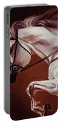 Beautiful White Running Horse 9iu Portable Battery Charger
