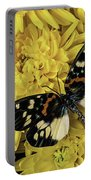 Beautiful Wings On Yellow Mums Portable Battery Charger