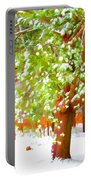 Beautiful Winter Tree Portable Battery Charger