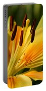 Beautiful Yellow Lily Portable Battery Charger